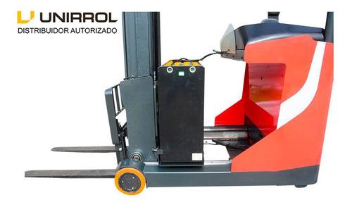 apilador unirrol eléctrico reach, modelo  rt 20-10.5