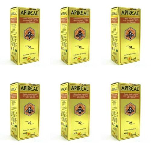 apis flora apireal geleia real liofilizada c/30 (kit c/06)