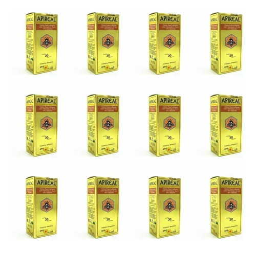 apis flora apireal geleia real liofilizada c/30 (kit c/12)