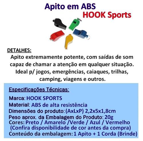 Apito Em Abs Hook Sports Arbitragem Juíz Com Cordão - R  11 f375d4c0f4c0e