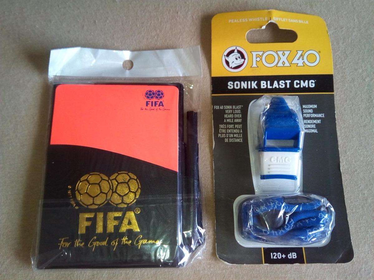 apito fox 40 sonik blast cmg com cordão + porta cartões fifa. Carregando  zoom. 1dfde78b1d1f4