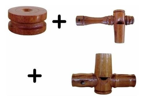 apito madeira marrequinha + pio uru + apito inhambu-açu