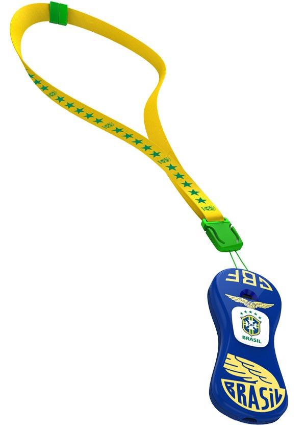Apito Pedhuá Com Cordão - Brasil - Azul E Amarelo - R  24 9fab27d6a9db4