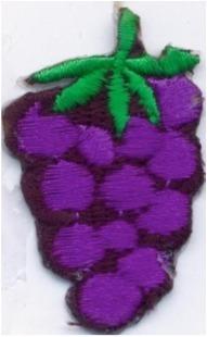 aplicacion bordada termoadhesiva 4cm x 3.0cm x unidad uva