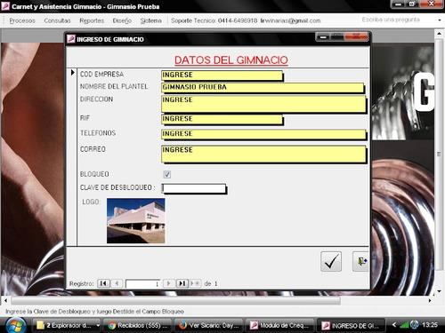 aplicacion control gestiónyadministración de gimnasiosycen h