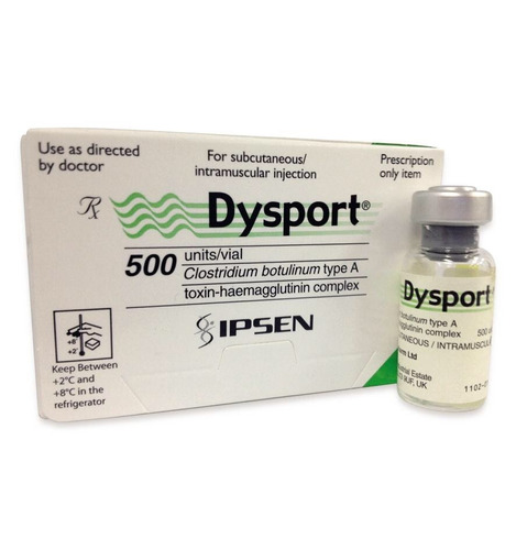 aplicación de botox en cara toxina botulinica dysport 165 u.