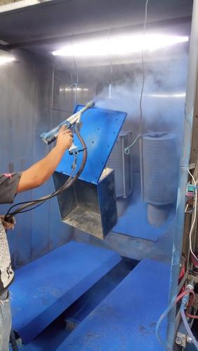 aplicación de pintura en polvo