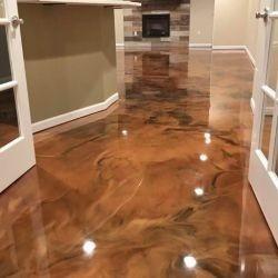 aplicación de pintura epoxica 100% solidos para pisos