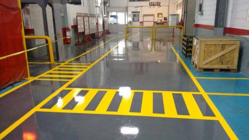 aplicacion de pintura epoxica para pisos ,bodegas , centros