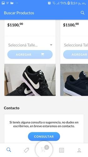 aplicación ecommerce(tipo pedidos ya, mercadolibre, etc)