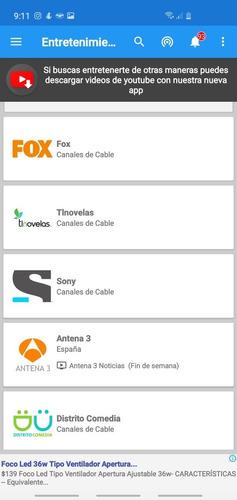 aplicación para ver televisión publica y de paga