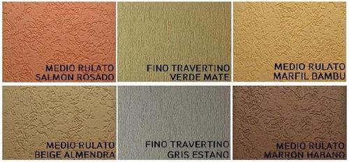 aplicación revestimiento texturado tipo tarquini - precio m2