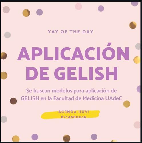 aplicaciones de gelish en $60