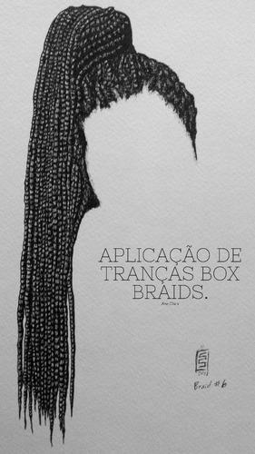 aplicação de tranças box braids