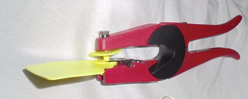 aplicador de aretes con aguja y base de repuesto ganado