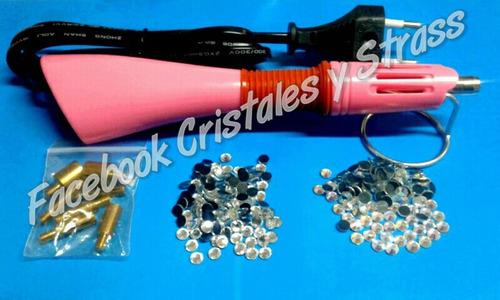 aplicador de strass + cristales hotfix de regalo