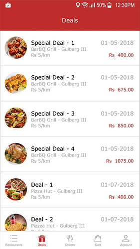 aplicativo de delivery e mútiplos restaurantes