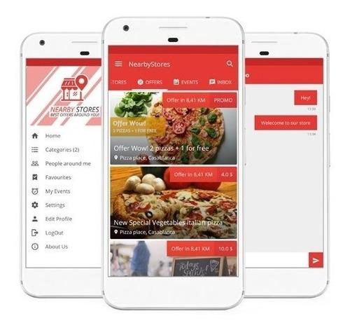 aplicativo guia comercial configurado e publicado.