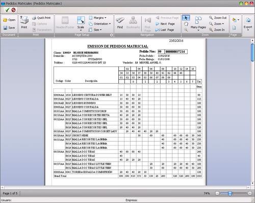 aplicativo p/tango (axoft) : reporte matricial