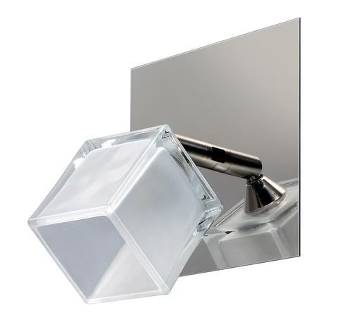aplique 2 luces cromo moderno apto led baño inoxidable