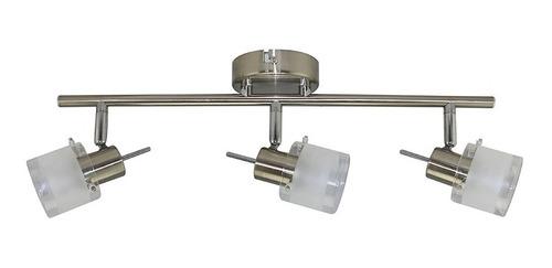 aplique 3 luces plafon techo movil odell acero apto led gu10