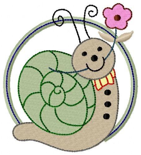 aplique animais no círculo 001 - col. de matriz de bordado
