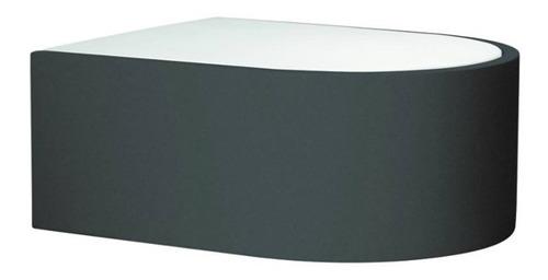 aplique balbis apto para exterior, aluminio color gris y dif