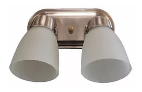aplique baño spot 2 luces oval platil apto techo pared e27