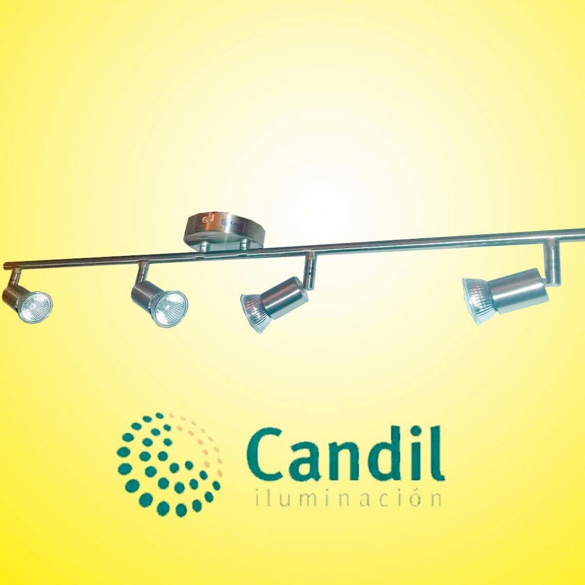Aplique barral 4 luces dicroicas 220v apto p led b - Luces dicroicas led ...