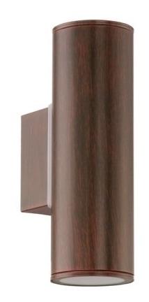aplique bidireccional exterior riga-led, marrón- eglo eg0448