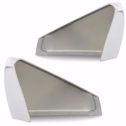 aplique capa cromada retrovisor onix prisma lado esquerdo