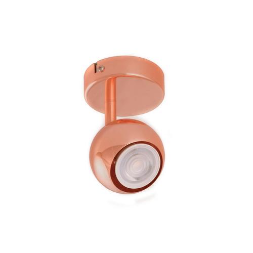 aplique cobre movil articulado venus 1 luz led 220v
