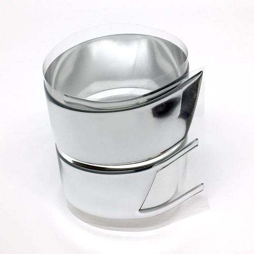 aplique da grade onix prisma 13/16 adesivo resinado cromado