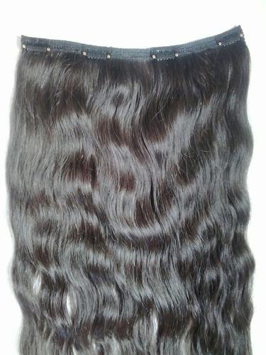 aplique de cabelo humano;tic-tac;65cm;120gramas;ondulado