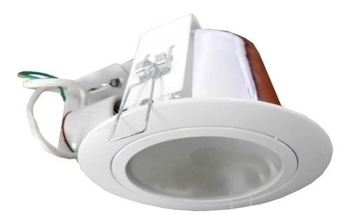 aplique de embutir aluminio color blanco, para 2 lámparas e2