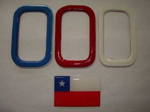aplique de parachoque p/ novo uno + bandeira chile -bre