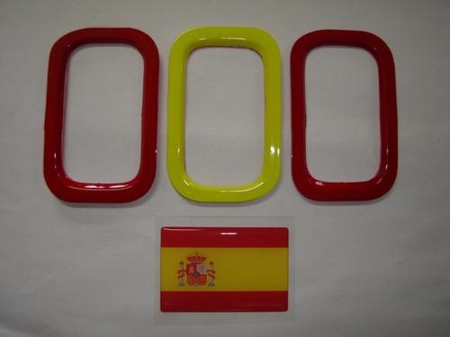 aplique de parachoque p/ novo uno + bandeira espanha -bre