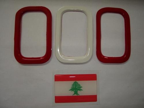 aplique de parachoque p/ novo uno + bandeira libano - bre