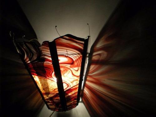 aplique de pared decorativo iluminaria en vitraux tiffany