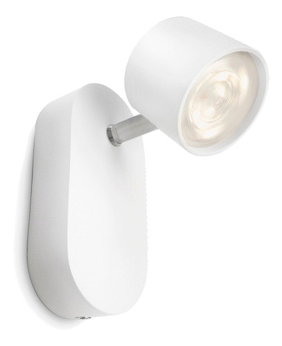 aplique de pared lampara philips star led 1x4 watts blanco