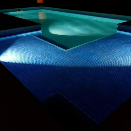 aplique de pileta piscina nilo acero inoxidable led 6w cuota