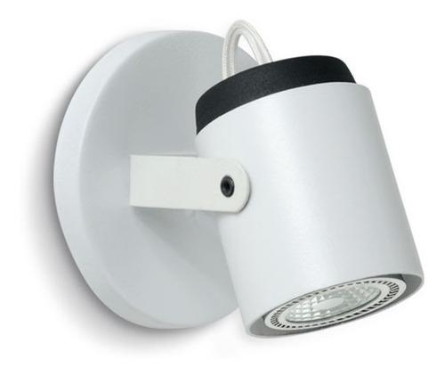 aplique dicroica 1 luz gu10 chapa iluminación 220v blanco