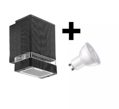 aplique difusor pared exterior aluminio gu10 apto + led