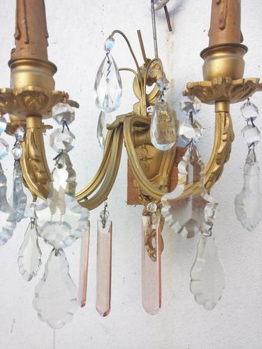 Aplique Est Frances De 3 Luces Comedor Dormitorio Sala Livin - $ 2.991,98