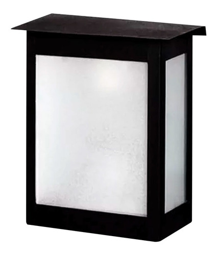 aplique farol hierro para exterior grande vidrio satin f-149