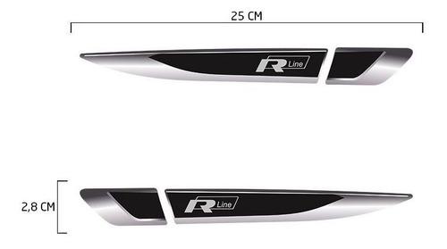 aplique lateral r line golf polo jetta emblema resinado par