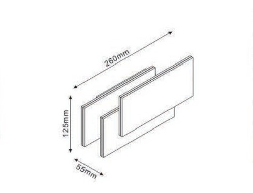 aplique led rectangular 12w