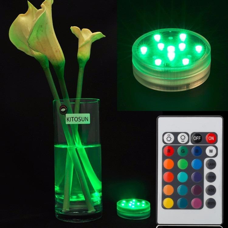 Aplique Luces Led De Colores Sumergible C/control Remoto - $ 300,00 ...
