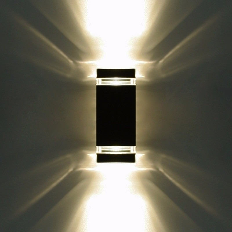 Aplique Luz Exterior Bidireccional X4u/8 Dicroica Led 7w - $ 3.230 ...