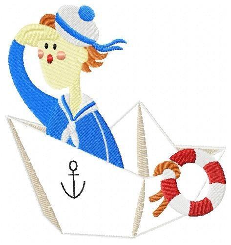 aplique marinheiros 001 - coleção de matriz de bordado